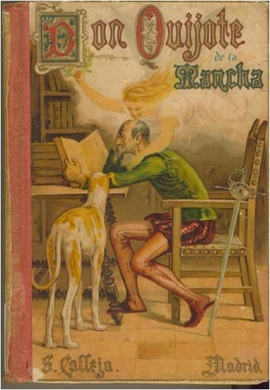 Cover of old edition of Don Quijote